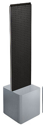 2-sided Pegboard Floor Display In Black 13.5w X 44h Inches With Studio Base