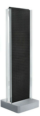 Black 2-sided Pegboard Display 16w X 60h Inches With C-channel On Studio Base
