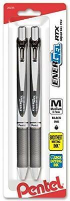 Pentel Energel Deluxe Rtx Retractable Liquid Gel Pen 0.7mm Metal Tip Black