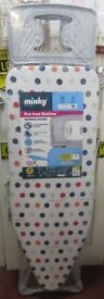 MINKY Pro Iron Station Ironing Board - Extra wide - Ironing Surface: 123 x 43 Cm - (A1) BRAND NEW