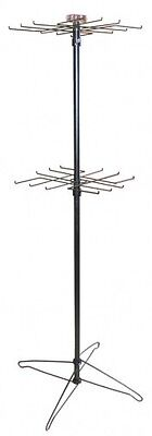 New 64 2-tier Black Metal Spinning Merchandise Display Wire Rack Spinner Rotary