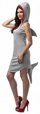 Shark Hoodie Dress Adult Costume Light Weight Deluxe Great White Sharknado -Fast - Shark Adult Costume