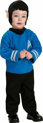 Spock Star Trek Movie Blue Cute Dress Up Halloween Infant Toddler Child Costume