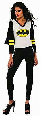 Women's DC Superheroes Batgirl Sporty Tee Shirt With Cape Size Small](Women's Sporty Halloween Costumes)