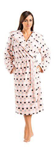 Womens Luxury Warm Soft Full Length Hooded Bathrobes Dressing ...