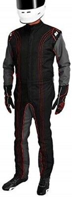 K1 Race Gear CIK/FIA Level 2 Approved Kart Racing Suit Black/Red Large/X-Large Kart Racing Suits