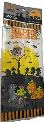 Sweet Creations Happy Halloween Graveyard Candy Treat Bags, 20 w/ Ties