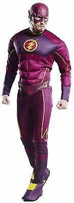 Rubies Adult Flash Deluxe Barry Allen DC Comics Cosplay Halloween Costume 810394 - Barrie Halloween Costumes