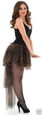 Ladies Snow leopard or leopard tutu with tail adult dressing up costume tutu hen ()