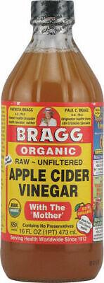 Bragg Organic Raw Unfiltered Apple Cider Vinegar w/h The Mother 473ml 16 fl oz Apple Cider Vinegar