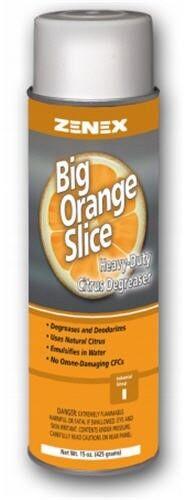 Zenex Big Orange Slice Heavy-Duty Citrus Degreaser - 12 Cans (Case)