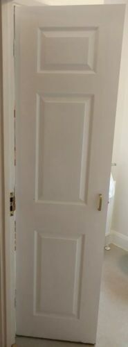 High quality timber door, tall and narrow, white painted