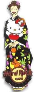 Hard Rock Cafe FUKUOKA 2012 Hello Kitty Kimono Girl Pin LE100