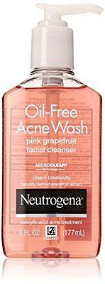 Neutrogena Oil-Free Acne Wash Facial Cleanser, Pink Grapefru