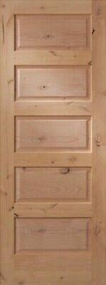 Exterior Knotty Alder 5 Equal Horizontal Raised Panels Solid Core Wood Doors Alder Wood Doors