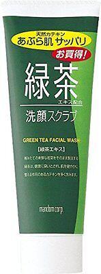 mandom GREEN TEA FACIAL WASH Scrub content Catechin MADE IN JAPAN