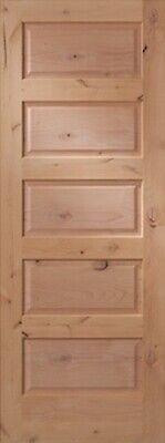 5 Panel Equal Raised Knotty Alder Stain Grade Solid Core Interior Wood Doors NEW Alder Wood Doors