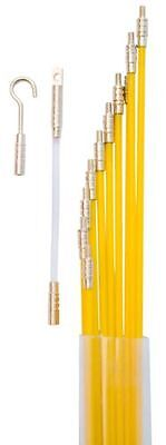33 Fiberglass Electrical Wire Coaxial Cable Running Rods Kit Fish Tape Pulling