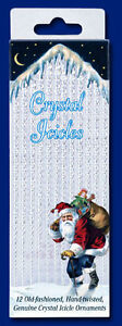 Merck Family's Old World Christmas 12 Crystal Icicles, Brand New