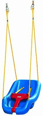 Little Tikes Snug Secure Swing Blue Baby Toddler Infant Seat Yard Play 2-In-1