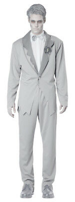 Gothic Ghostly Groom Adult Mens Halloween - Ghostly Groom Halloween Costume