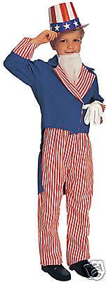 Female Uncle Sam Costume (UNCLE SAM Child Halloween Costume Boys Size Large 12-14 New)
