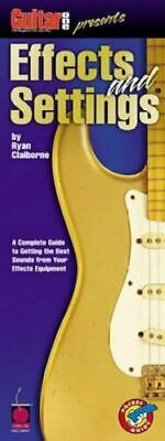 GUITAR ONE PRESENTS EFFECTS AND SETTINGS POCKET GUIDE MUSIC BOOK-GUITAR-RARE-NEW