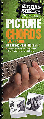 Gig Bag Book of Ukulele Picture Chord Shapes Learn to Play Uke Music Book -