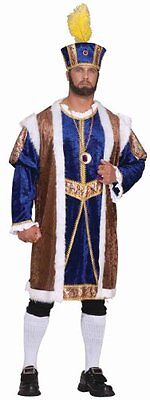 Purple King Robe (Purim Large Costume Henry The Eighth Full Purple Yellow Robe & Crown Xxxl King )