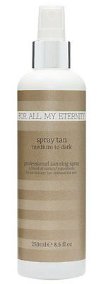 For All My Eternity BEST NATURAL SPRAY TAN Airbrush Mist Tanning Solution 8.5oz (Best Organic Spray Tan Solution)