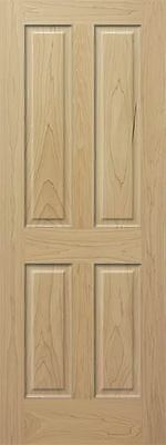 4 Panel Raised Select & Better Poplar Stain Grade Solid Core Wood Interior