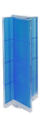 Styrene Pinwheel Pegboard Floor Display In Blue 16w X 60h Inch With Base