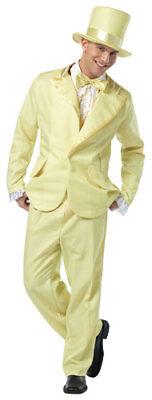 70s Funky Yellow Tuxedo Mens Halloween Costume