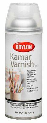 Krylon K01312 11-Ounce Kamar Varnish Aerosol Spray,Matte Krylon Kamar Varnish Spray