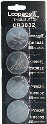 Loopacell CR3032 CR 3032 Lithium 3V 4 Batteries