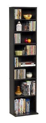 Multimedia Storage Tower Cabinet Wall Rack DVD CD Shelves Media Organizer Shelf