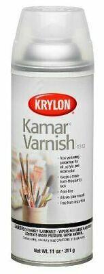 Krylon Kamar Varnish Spray, 11 Ounce Can - Brand New, Unused Krylon Kamar Varnish Spray