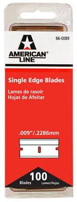 Single Edge razor blades 009 aluminum back (100 pack) Best Brand American (Best Single Edge Razor)