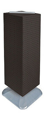 Black 4-sided Pegboard Tower Display 14w X 40h Inches On Revolving Base