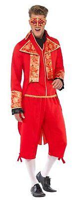 FANCY DRESS DEVIL MASQURADE COSTUME IN RED