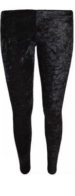 Ladies Women Crushed Velvet Pant/Trouser/legging/Jegging Lounge Wear size 12/14