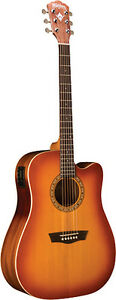 NEW WASHBURN WD7SCEACSM ACOUSTIC/ELECTRIC SOLID TOP DREADNOUGHT ACOUSTIC GUITAR
