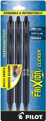 Pilot Frixion Clicker Erasable Refillable Retractable Gel Ink Pens Fine Poi...