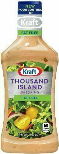Kraft, Fat Free, Thousand Island Dressing, 16oz Bottle (Pack of 3)