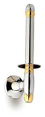 Filigrana Polished chrome and gold Upright toilet paper holder.