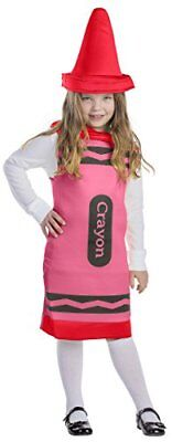 Dress Up America Kids Red Crayon Costume