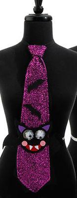 RAZ Imports Halloween Costume - Black Cat & Bats Purple Neck Tie #H3612563](Halloween Black Cat Costume)