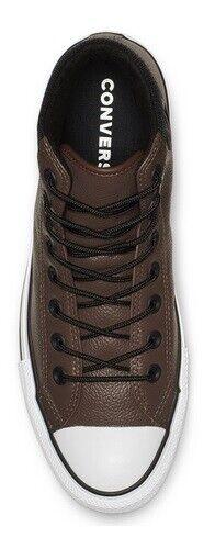 Details zu Converse Chuck Taylor All Star Leder Hi Schuhe Sneaker Stiefel 162413C (Braun)
