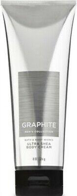 Bath & Body Works Graphite Body Cream For Men ~ 8 oz ~ Ships (Graphite Body)