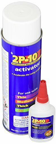 FastCap 2P-10 Super Glue Adhesive 2.25 Ounce Thick and Activator Combo Pack